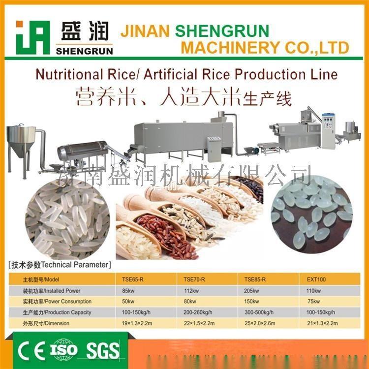 复合型营养强化米生产线 早餐素食米加工设备