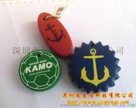 APU防水漂浮钥匙扣 PU浮飘钥匙扣 PU仿皮海棉浮标锁匙扣