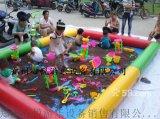 贵州玩沙的充气沙池哪里有卖 彩色决明子充气沙滩池价格