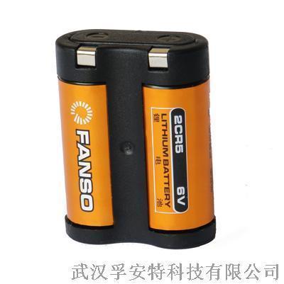 2CR5孚安特 1400mah 数码相机专用 6v锂锰组合电池 FANSO