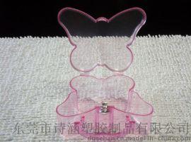 广东厂家提供 时尚精致 手提塑料盒蝴蝶形 PS高透明包装收纳盒