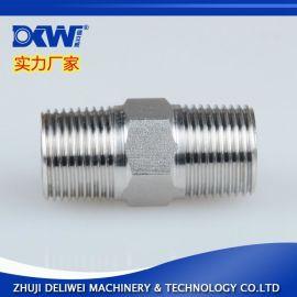 正宗不锈钢304液压对丝 外牙直通接头 外螺纹直接 液压转换接头