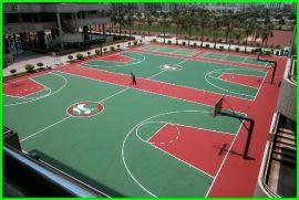 山西塑胶篮球场报价 陕西硅PU网球场