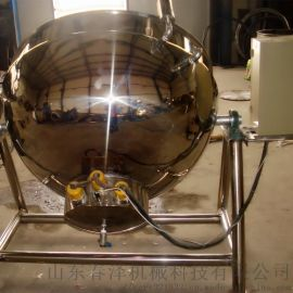 强大380v夹层锅 内注导热油