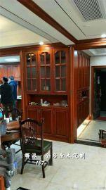 长沙实木美式家具、实木鞋柜、酒柜门定做辉派工厂