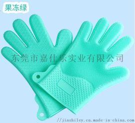 新品爆款硅胶洗碗手套 厨房隔热手套现货供应