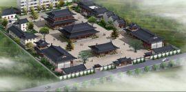 寺院设计图,寺庙施工图,寺院鸟瞰图设计