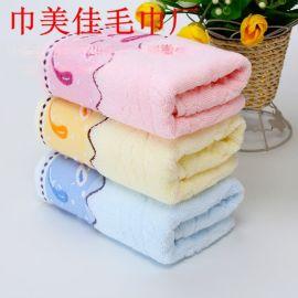 高陽毛巾批發 純棉小魚洗臉毛巾 高檔家用商超員工福利勞保洗臉巾