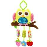 嬰幼兒風鈴貓頭鷹玩具掛件兒童益智毛絨玩具