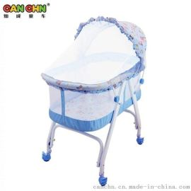 灿成折叠婴儿床儿多功能婴儿床宝宝防蚊折叠便携摇床新生儿摇床 BC-2001