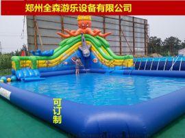 夏季移动充气水上乐园/儿童水上游乐设备