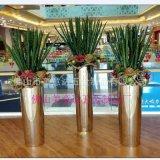 盆栽圆柱不锈钢花盆 异形不锈钢大花盆 镜面 拉丝表面处理