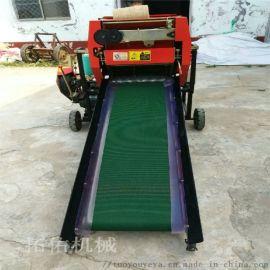 新品上市自动牧草麦秸揉丝捆扎包膜机青贮秸秆打捆机