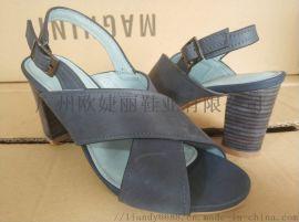 罗马凉鞋定做,粗跟凉鞋加工,时装凉鞋定制