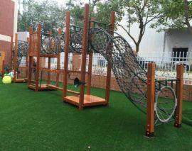 儿童实木攀爬架 幼儿园感统训练 户外组合滑梯玩具
