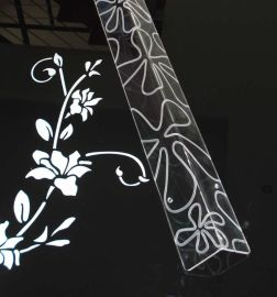 新兴有机玻璃墙角保护条 护角 墙护角 防撞暗花简约