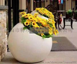 【特攻花器】甘肃户外大型镜面拉丝不锈钢花盆花池定做