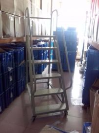 仓库登高梯生产商长安带护栏移动登高梯茶山登高平台梯