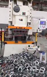圆法兰冲压生产线,双工位法兰模具,镀锌圆法兰