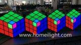 3D魔方立體背景牆LED亞克力3D魔方背景牆酒吧