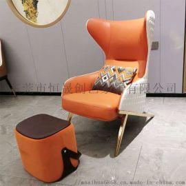 東莞廠家直銷奢不鏽鋼客廳沙港式輕發椅