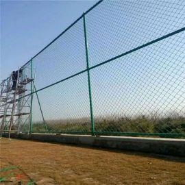 学校勾花护栏网 绿色球场围栏网 绿色篮球场围栏网 绿色运动场围栏网