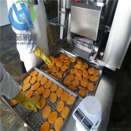 小型肉饼成型机-肉饼上糠机-全自动肉饼油炸机