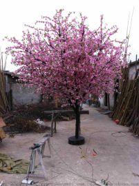 重庆假桃树生产 重庆新年桃树 重庆假桃花批发 武汉假树生产 四川仿真桃树
