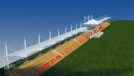 供应襄樊膜结构停车棚 /膜结构自行车棚