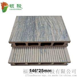 仿老船木木塑地板 复古户外地板 福建塑木栈道地板