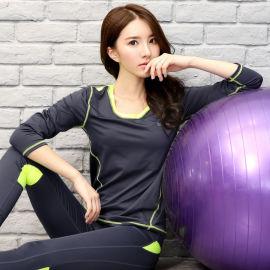 健身瑜伽服速干休闲流行女士 上衣跑步长袖运动T恤