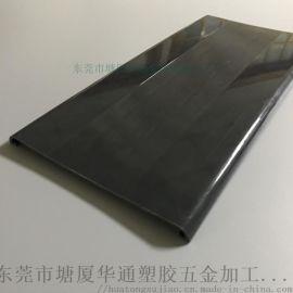黑色PC硬质挤出异型材 PC挤塑异型材 pc挤出板