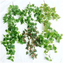 仿真植物壁挂家居装饰挂件藤蔓墙面装饰藤条壁挂垂吊背景墙绿植墙