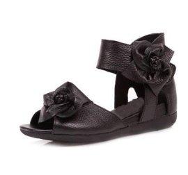 坡跟时尚百搭热销手工牛皮鞋