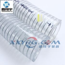 耐高压水管, PVC透明螺旋钢丝增强软管, 无毒无味耐寒冬天不变硬