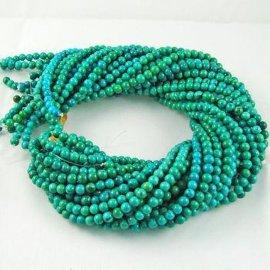 天然绿松石B级圆珠