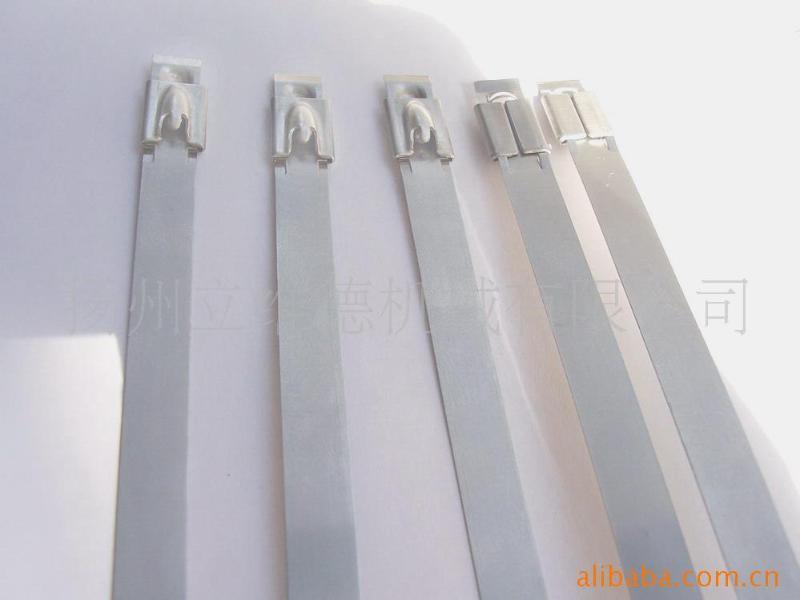 厂家供应S304不锈钢自锁扎带、304卡扣 扎扣 珠式自锁不锈钢扎带
