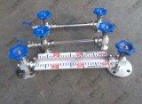 不锈钢液位计 带刻度液位计 带排污阀液位计 玻璃管法兰液位计