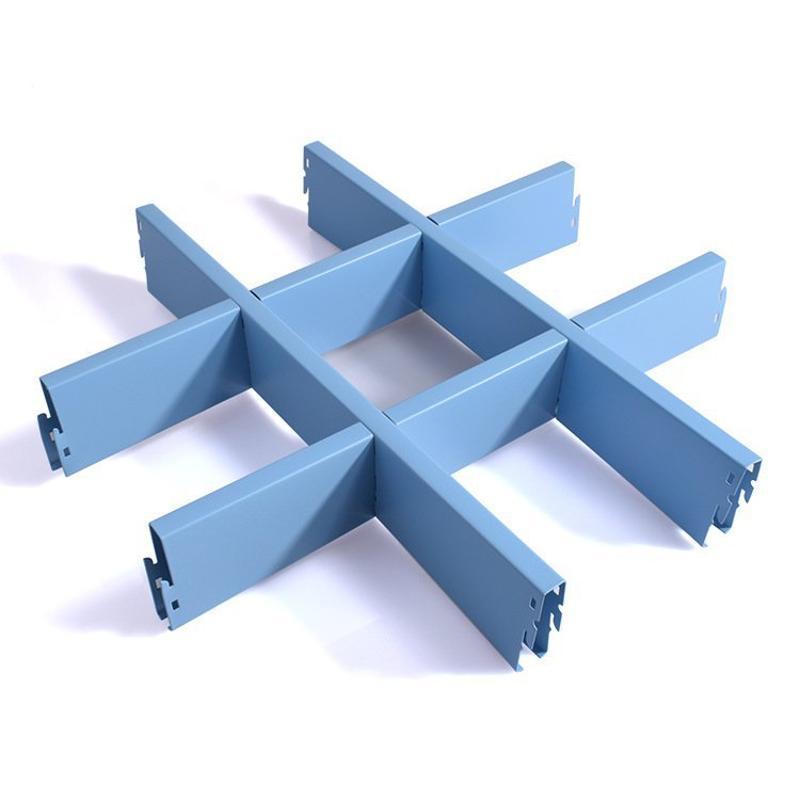 铝网格天花厂家直供幼儿园彩色铝格栅天花吊顶