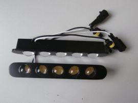 直接接电瓶大功率高亮度五珠LED通用日行灯(直插透镜款)