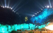 上海星迅大型活动舞台背景灯光投影