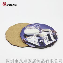 厂家定做MDF空白热转印餐垫隔热木质餐垫