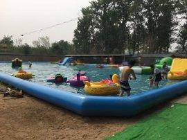 北京移動水上樂園項目廠家 大型支架水池價格充氣游泳池定做 充氣滑梯組合