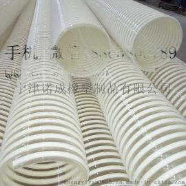 山东宁津抛丸机150mm耐磨塑筋增强软管PU塑筋波纹管食品级平滑物料管厂家