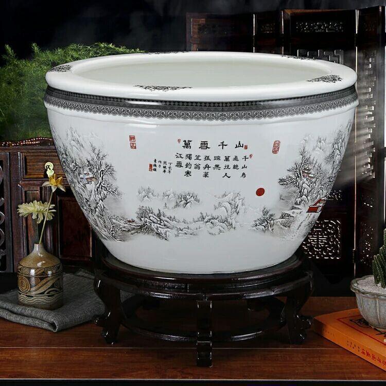 陶瓷大缸 瓷器大缸批发 定做陶瓷大缸厂家