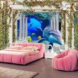 KTV海底3D壁画 餐厅海洋墙画 儿童卡通墙纸