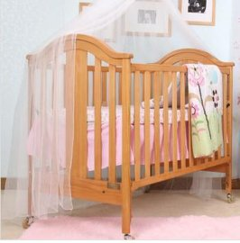 贝安诺环保婴儿床 童床盖亚柚木色130德国榉木实木0甲醛无漆