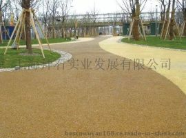 城市绿道广场大孔无砂混凝土-安徽透水地坪厂家 施工价格