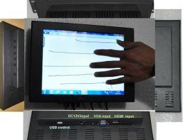 10.4寸电容触摸显示器4:3多点触摸,工业 LED高亮屏, 防水抗干扰好