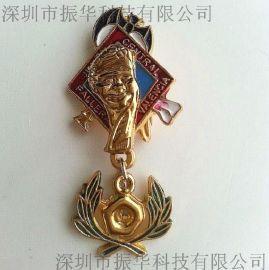 深圳厂家定制金属烤漆徽章立体徽章